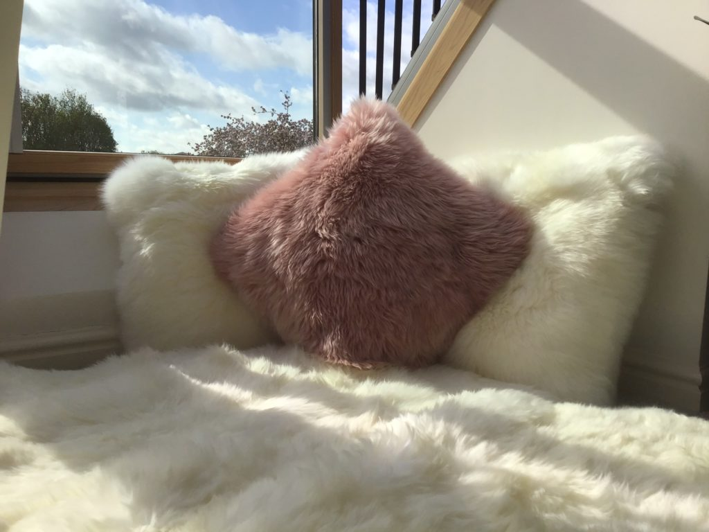 How to use a sheepskin rug on a balcony