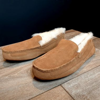 Men's Chestnut Moccasin Slippers