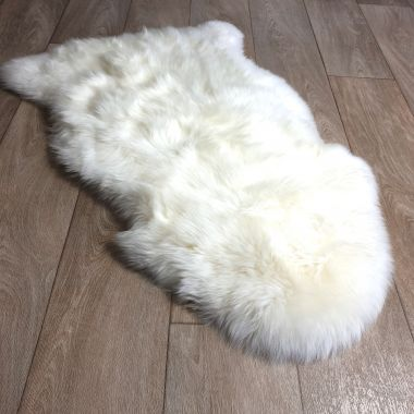 Cream White Sheepskin Rug