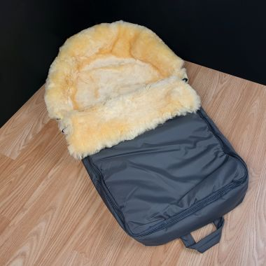 Dover - Grey Sheepskin Footmuff