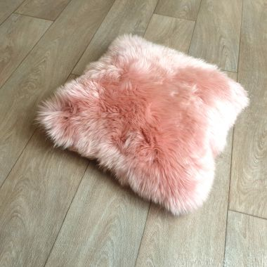Rosa Pink Sheepskin Cushion