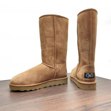 Chestnut Tall Sheepskin Boots