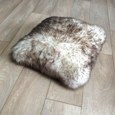 Wolf Tip Sheepskin Cushion