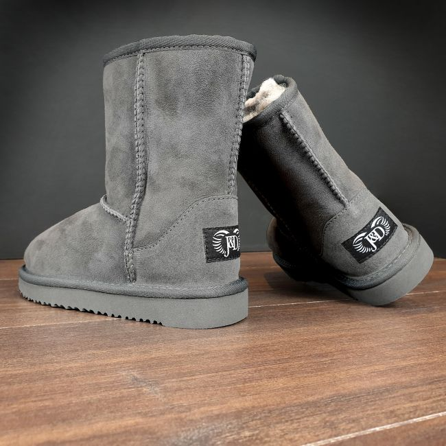 Image of Kids Grey Classic Sheepskin Boots