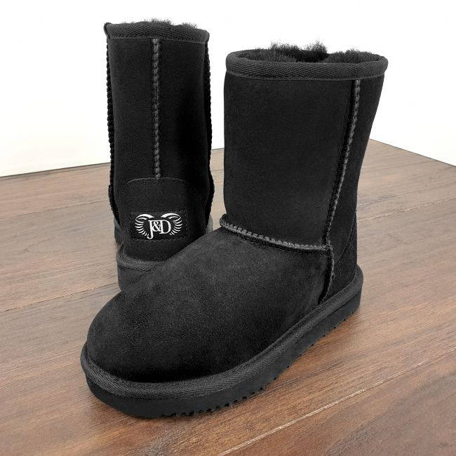 Image of Kids Black Classic Sheepskin Boots