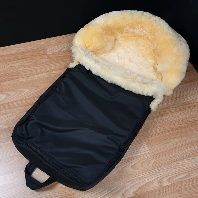 Image of Dover - Black Sheepskin Footmuff