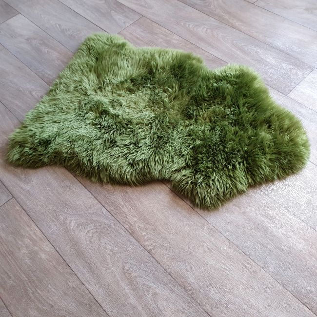 Image of Green Sheepskin Rug