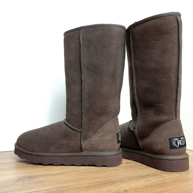 Image of Chocolate Tall sheepskin Boots