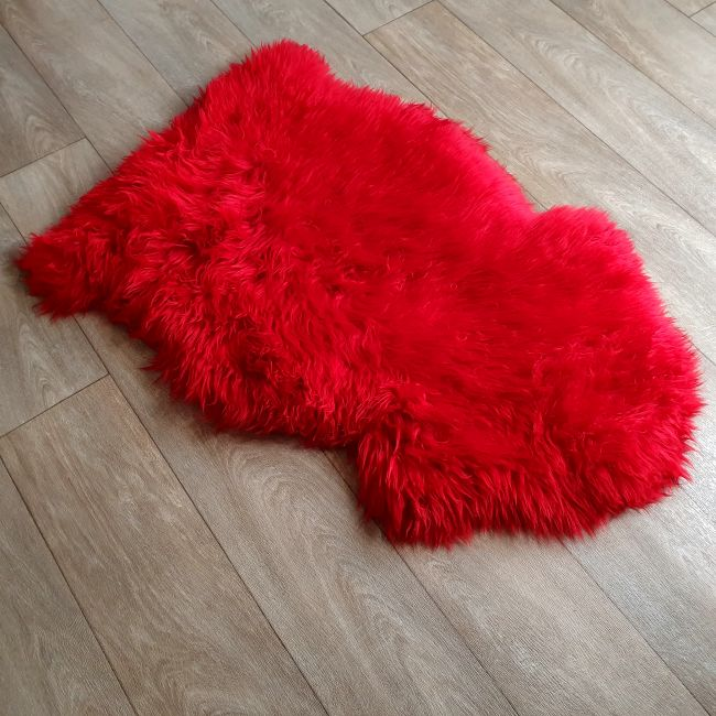 Image of Red Sheepskin Rug