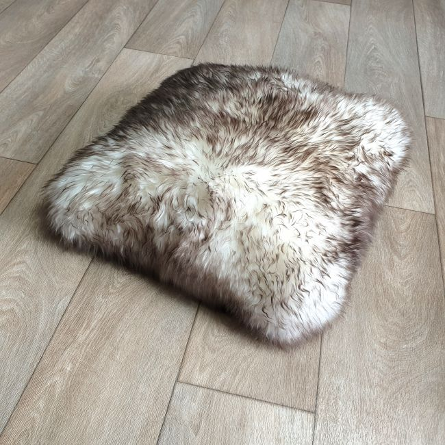Image of Wolf Tip Sheepskin Cushion