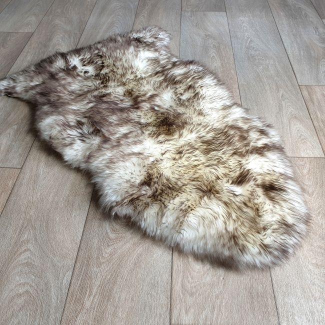 Image of Wolf Tip Sheepskin Rug